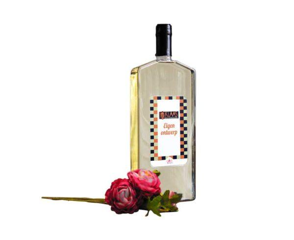 Brievenbusgeschenk wijn platte fles cadeau relatiege