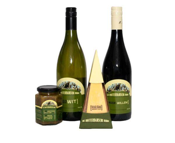 Rotterdams Pakket borrel cadeau geschenk Kaas Wijnpakket