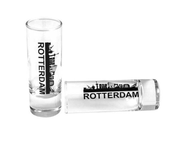 Shotglass Rotterdam Skyline cadeau geschenk drank